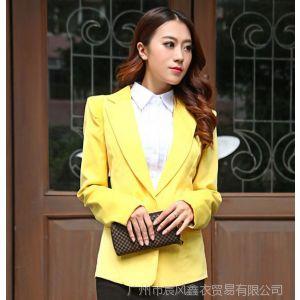 供应秋装小西装外套女韩版休闲新款中长款修身西服秋装小西装