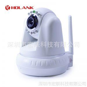 供应P2P即插即用家用无线网络监控摄像机,网络云台WIFI手机远程监控