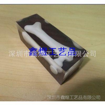 水晶胶骨头工艺品 ,树脂poly波丽纪念礼品 poly树脂