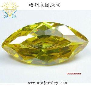 供应永图珠宝直销彩色 人造锆石裸石