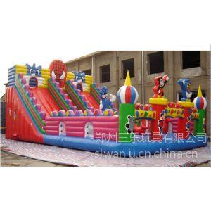 供应儿童充气滑滑梯 游乐园玩具蜘蛛侠大型滑梯 各种规格滑滑梯定做