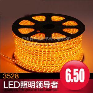 供应内蒙古长春哈尔滨批发LED灯带3528高压防水60珠LED软灯条中山厂家批发