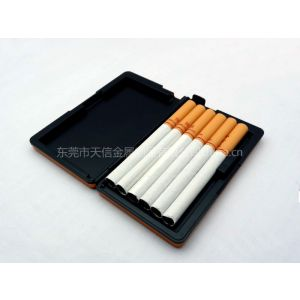 供应B812款6支装自动烟盒  手推自动弹出烟支 可定做LOGO及图案 59*16*98mm