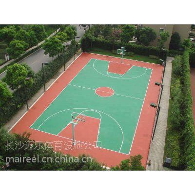 供应湖南益阳娄底湘潭硅PU球场硅pu篮球场塑胶球场