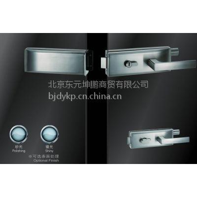 供应酒店,物业,学校房间玻璃门锁 不锈钢横方单边单执手锁 超b级锁芯JU-W520A玻璃门锁