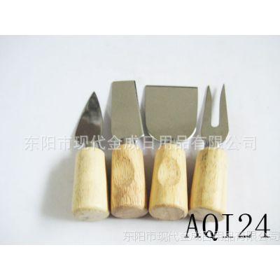 专业生产各类不锈钢圆橡木手柄芝士刀 芝士四件套