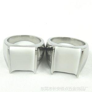 供应不锈钢铸造戒指 欧美流行不锈钢铸造镶嵌绿松石戒指 女生指环