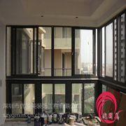 供应深圳断桥铝中空阳台玻璃窗铝合金推拉门窗