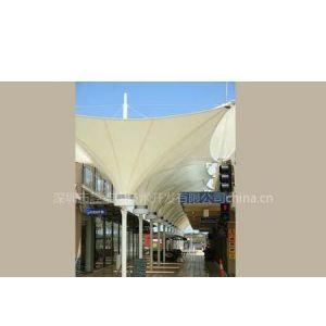 供应商业街遮阳张拉膜结构