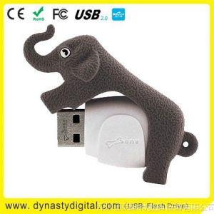 供应usb stick 卡通长鼻象U盘 大象U盘、可爱的情侣小象U盘、