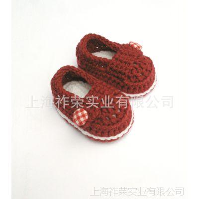 [厂家直销]手钩毛线鞋 毛线编织婴儿鞋 毛线婴儿鞋 针织婴儿鞋