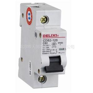 供应德力西空气开关 小型断路器 CDB2-125 1P -D100A