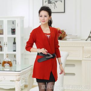 供应韩版中长款打底衫大码显瘦假两件长袖女装纯色气质上衣 现货批发