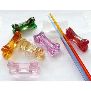 供应水晶筷子架 玻璃压型筷子架 酒店餐具用品 玻璃工艺品