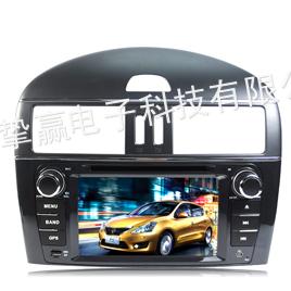 供应日产新骐达专车专用DVD导航 新骐达车载GPS导航仪 日产专用导航一体机