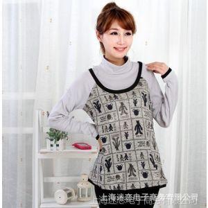 供应2014韩国时尚印花针织修身 孕妇装拼接 打底衫上衣M224374B