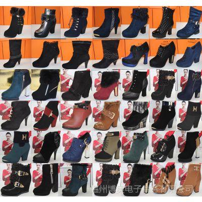 女靴欧洲站 温州时装女鞋 加绒靴 秋冬爆款 欧洲站马丁靴批发团购