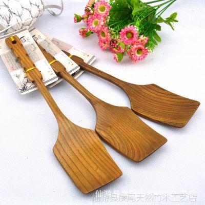 不粘锅专用木铲锅铲 厨具烹饪铲 炒菜厨房铲 天然仿古木铲