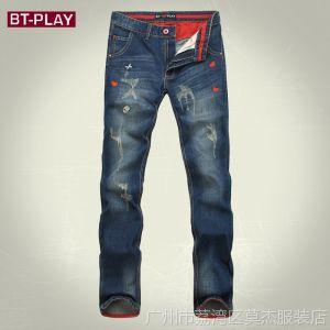 供应BT-PLAY2014新款牛仔裤 新塘爆款牛仔裤 品牌潮流牛仔裤 男 8803