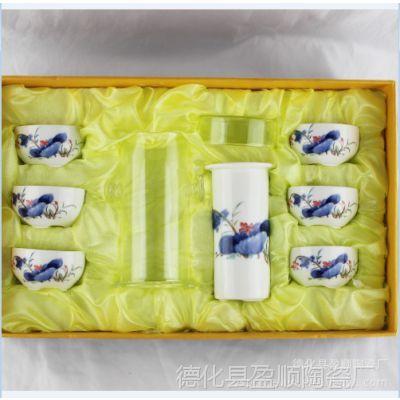 供应玻璃茶具 7头小和为贵红茶茶具 功夫茶具 玻璃茶具套装