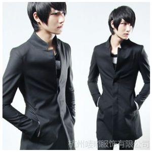 供应批发 混批 2014春款 韩版 立领复合棉帅气修身男式风衣