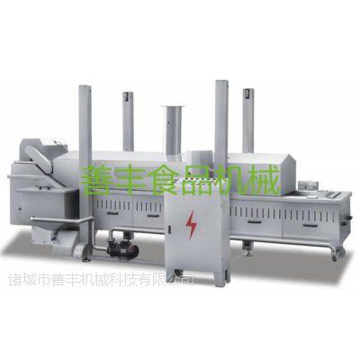 供应连续式 网带式电加热油炸机