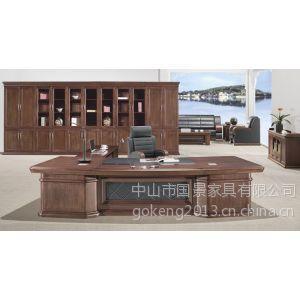 四川办公家具厂家定制,董事长实木办公桌,国景家具