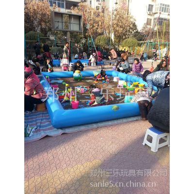 沁阳温县小公园摆放充气沙滩池决明子来搭配好玩赚钱