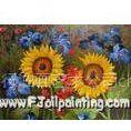 供应供应画室直销混批 各类手绘花卉油画 1幅起定