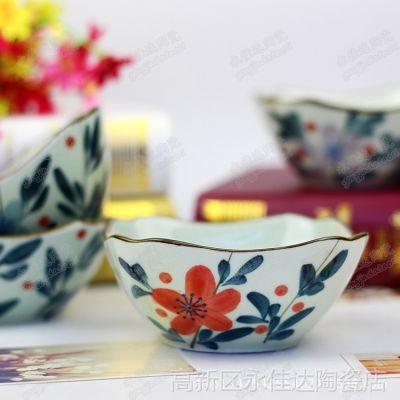 陶瓷碗,仿古手工彩绘,景德镇碗,礼品餐具 创意礼品玩套装