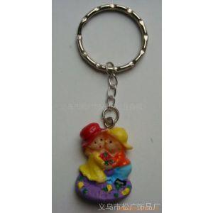 供应树脂情侣钥匙扣 树脂公仔手机链 树脂钥匙扣 促销礼品卡通钥匙扣
