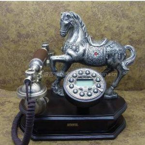 供应马到功成仿古电话机 家居装饰品 礼品赠品 客厅装饰品 酒店用品 办公电话 厂家批发