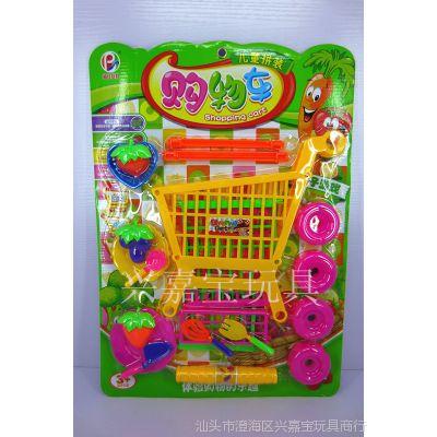 2014新款 热销儿童教育益智早教玩具 过家家玩具 餐具类购物车