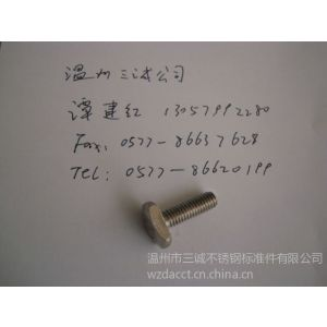 供应不锈钢T形螺丝铁路用紧固件不锈钢工业用紧固件