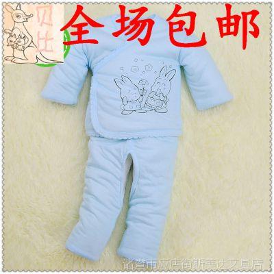 一件代发加厚新生儿棉袄套装婴儿棉衣二件套秋冬季宝宝婴幼儿棉衣