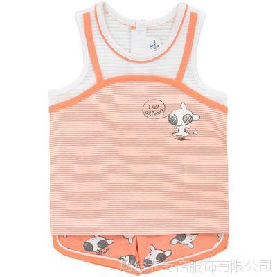 韩国ALFONSO韩版夏季女童套装   ^外贸童装夏装^童装批发