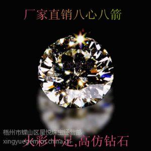 供应梧州人工宝石 锆石***低报价 锆石厂家批发