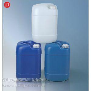 25公斤高身方罐  塑料混合料桶批发  塑胶方桶价格