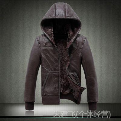 供应2014新款男式真皮皮衣  时尚绵羊皮外套S-ZF018 批4200元预定