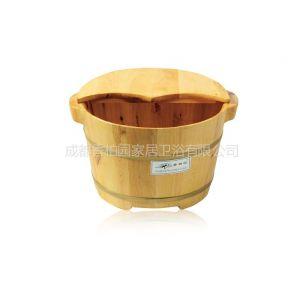 供应香柏园25cm高双耳香柏木桶泡脚桶洗脚桶足浴桶足浴盆