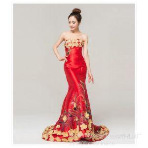 供应欧柏丽婚纱礼服厂 丽雅蕾诗 苏州晚礼服批发 量身定做 天猫商城供应商