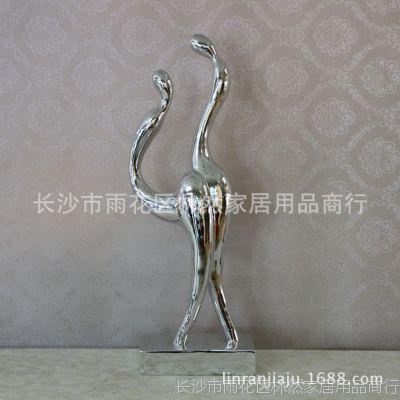 简约现代抽象美女人物雕塑摆件 玄关台树脂诱惑女人艺术工艺品