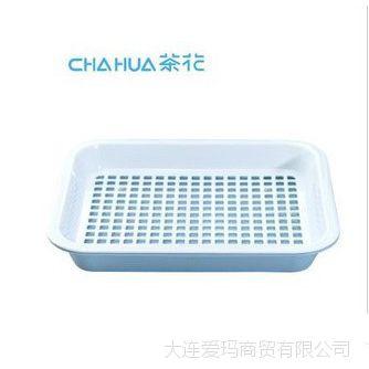 茶花正品1001-B双层茶盘 茶具托盘长方形塑料 欧式餐盘托盘0.33