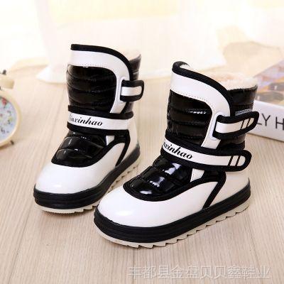 厂家直销儿童雪地靴 2013冬款韩版时尚女童高邦棉鞋中大童皮鞋
