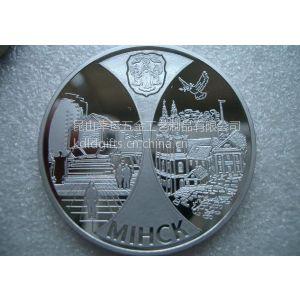 供应纪念币、双面币、广告订制金属纪念币、定制促销礼品纪念币、锌合金压铸镜面纪念币、昆山幸运徽章厂