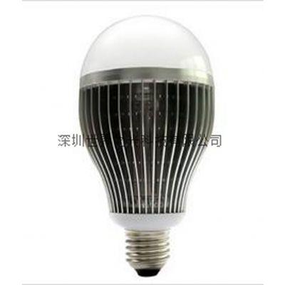 深圳世界之光LED生产厂家供应LED球泡灯(鳍片大功率)