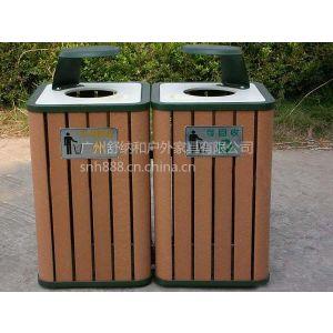 供应重庆景区垃圾桶 实木分类垃圾桶 SNH-LJ05