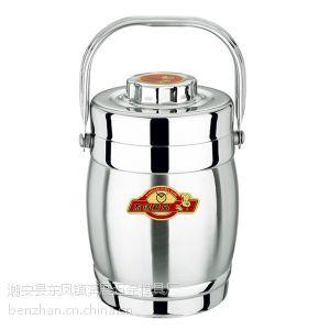 供应潮安供应奔展牌真空不锈钢锅 双层不锈钢保温桶