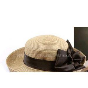 供应厂家供应YRLS11006 休闲草编帽、太阳帽、女式时装帽