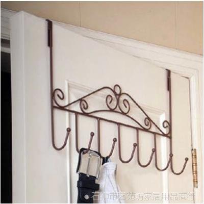 铁艺门后挂钩 无痕粘钩 免钉挂衣架 门后挂衣架